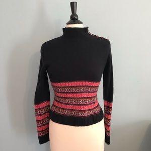 Lilly Pulitzer Mock Sweater Nordic Print Black XS